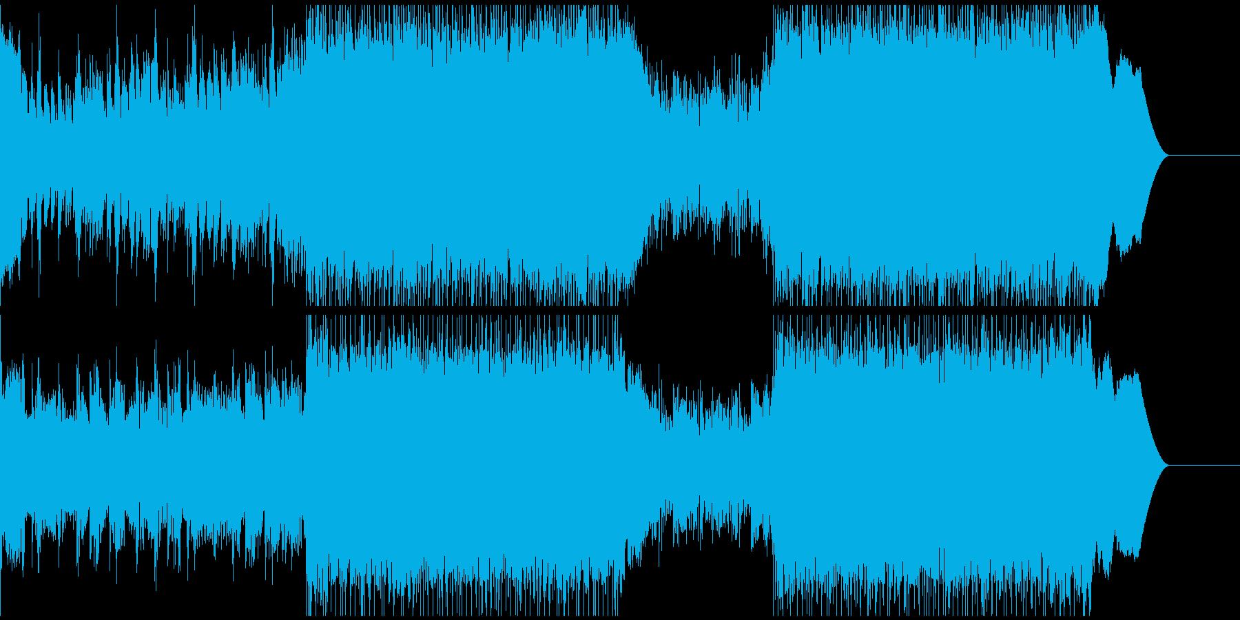 まったりした落ち着きのあるメロディーの再生済みの波形