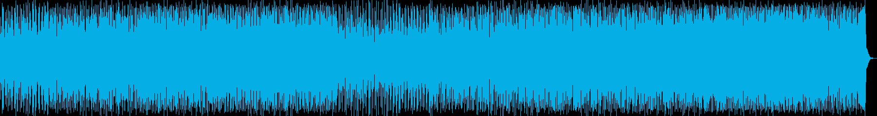 壮大なストリングのある4つ打ちのテクノ音の再生済みの波形