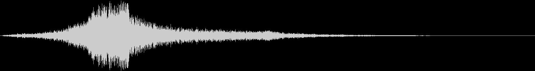【破壊的】映画タイトルロゴ(トレーラー)の未再生の波形