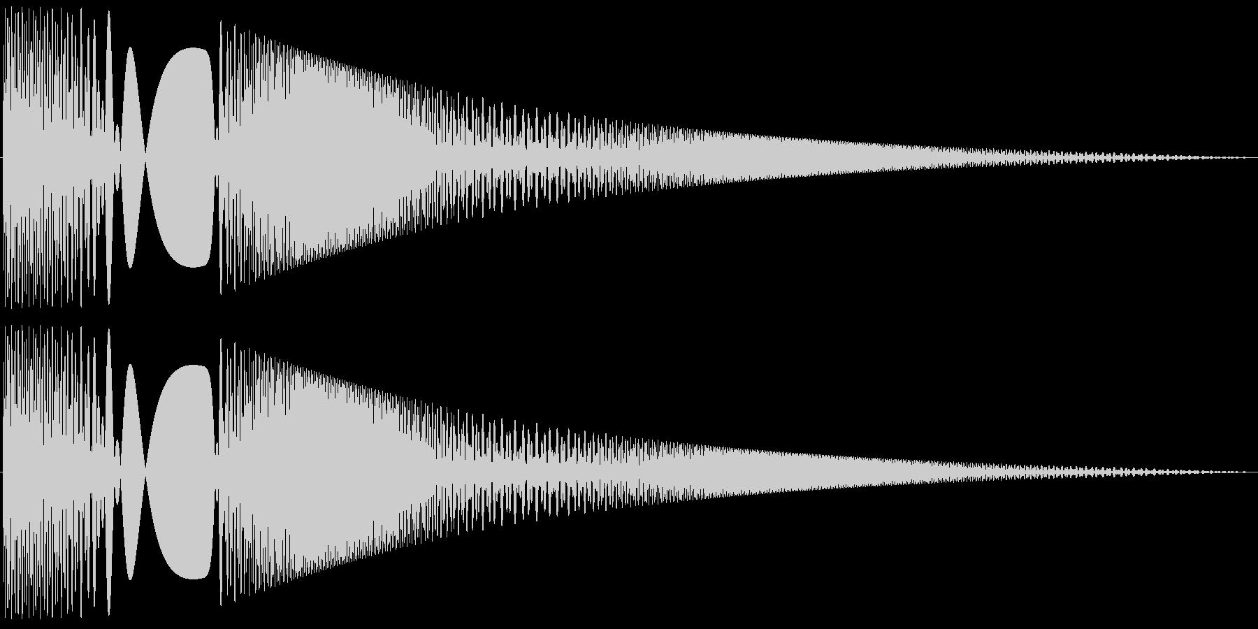 ボヨヨンと柔らかいものが揺れる03の未再生の波形