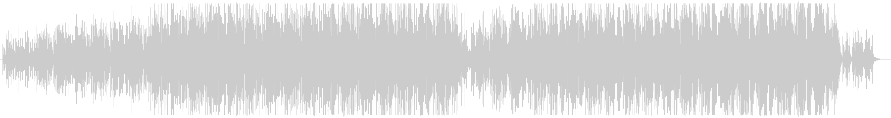 ミニマルなマリンバのアコースティックチルの未再生の波形
