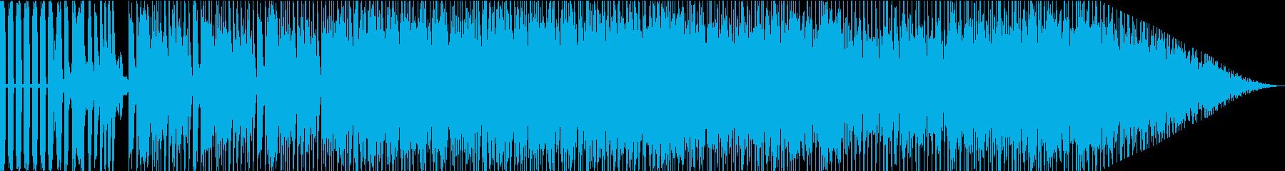 湾岸沿いドライブ疾走感あるユーロビートの再生済みの波形