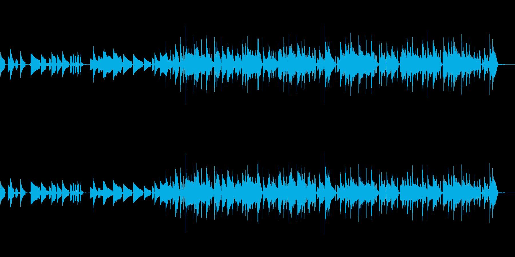 justin bieber的な洋風ポップの再生済みの波形