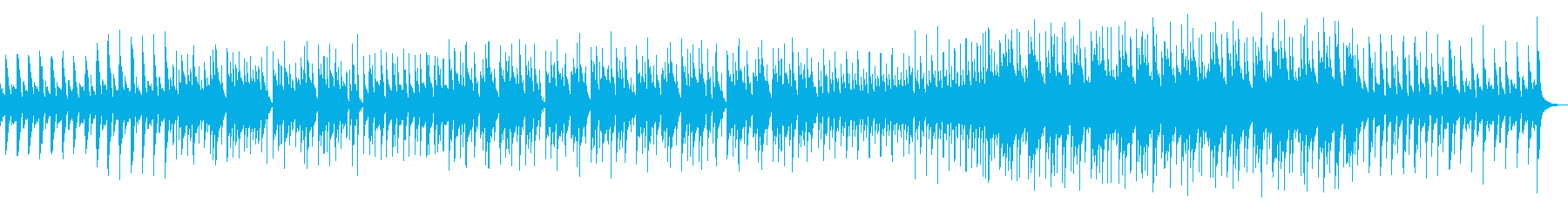ピアノとドラムによるシンプルなインストの再生済みの波形