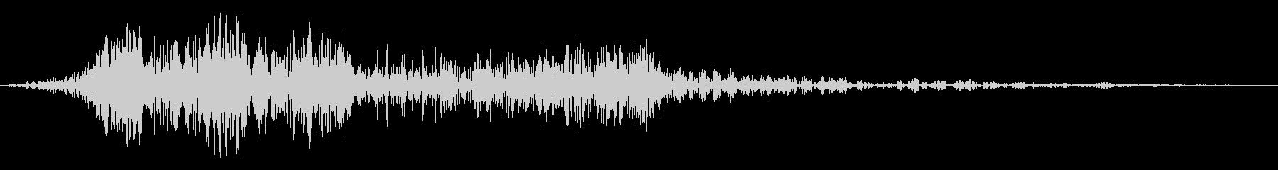 ヒュー、電子的なワープ音。の未再生の波形