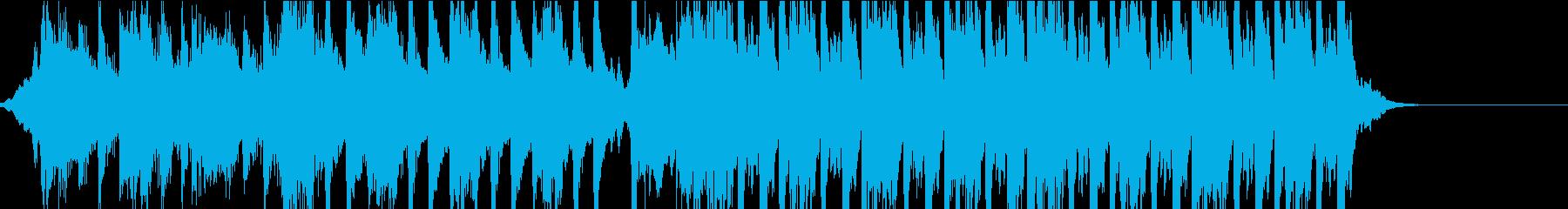 チェロとヴァイオリンによる壮大な重低音の再生済みの波形
