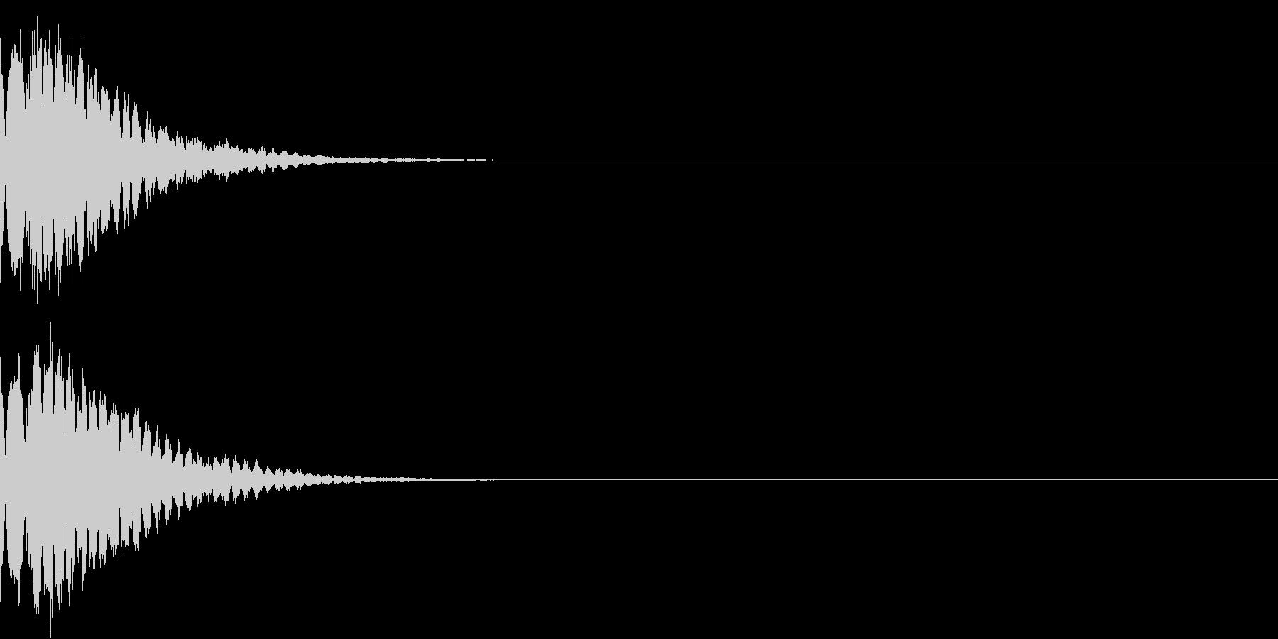光る キュイーン ピカーン キラン 15の未再生の波形