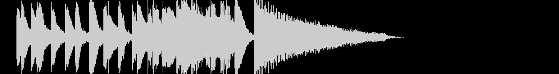 アイキャッチに使える10秒ピアノ・前半の未再生の波形