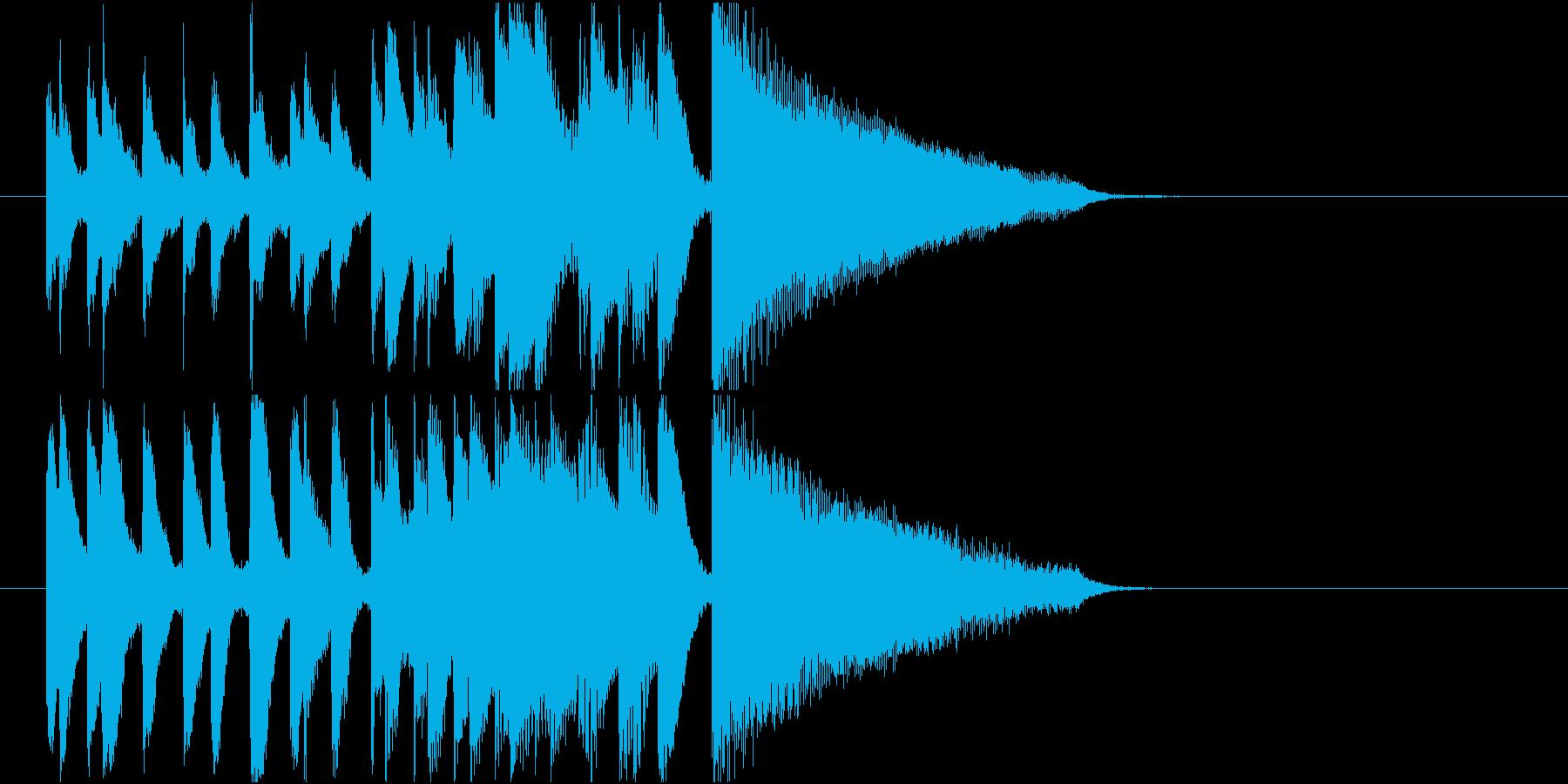 アイキャッチに使える10秒ピアノ・前半の再生済みの波形
