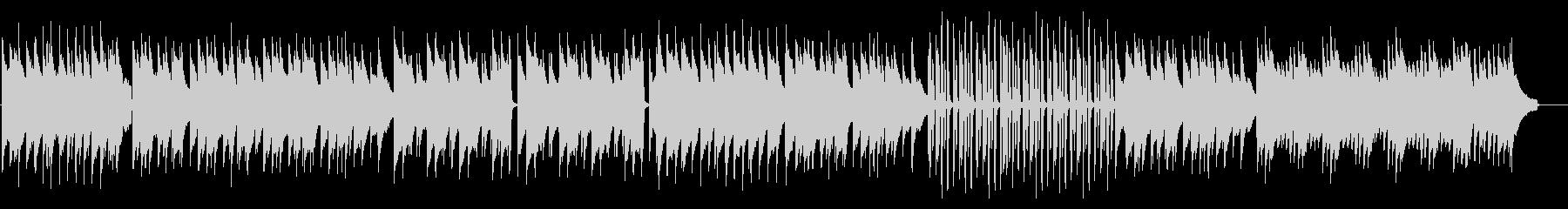 ラジオ体操風の、シンプルで明るいピアノの未再生の波形