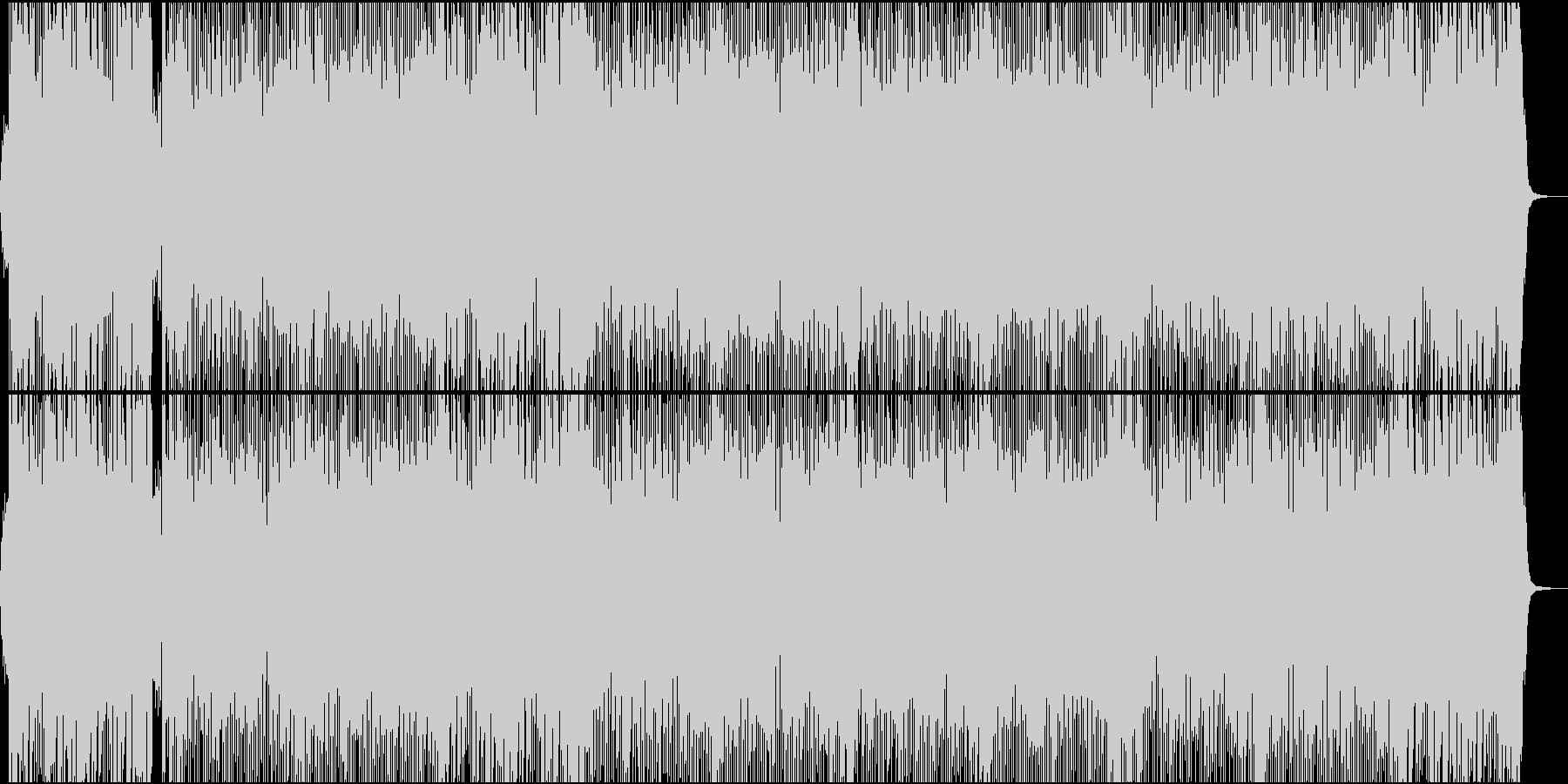 キャッチーな三味線ハードロック掛け声ありの未再生の波形