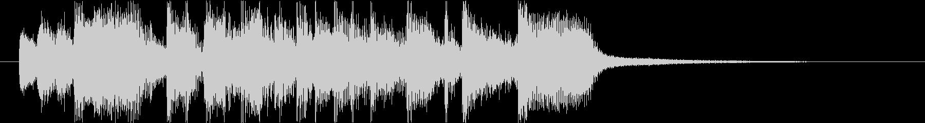 ノリノリラテンサウンドロゴの未再生の波形