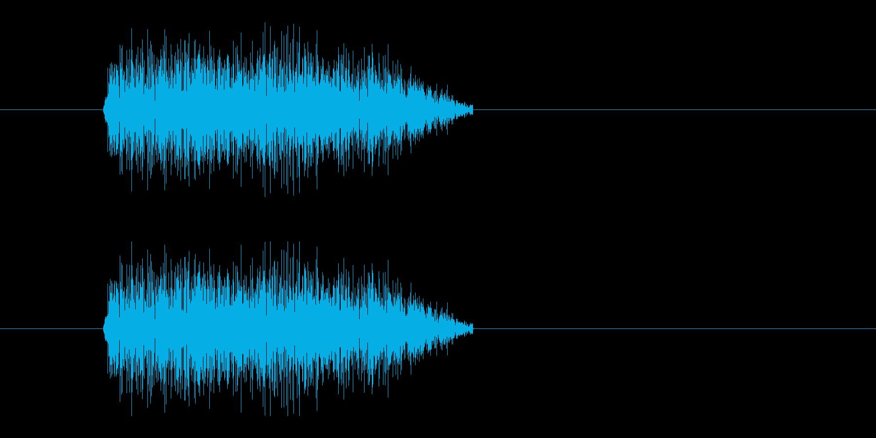 レーザー音-16-3の再生済みの波形