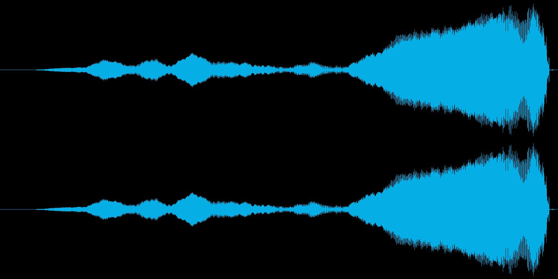 フェードインする高音の再生済みの波形