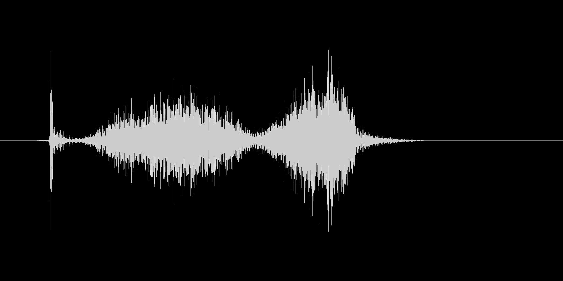 チョークで「はね」を書いたときの効果音2の未再生の波形