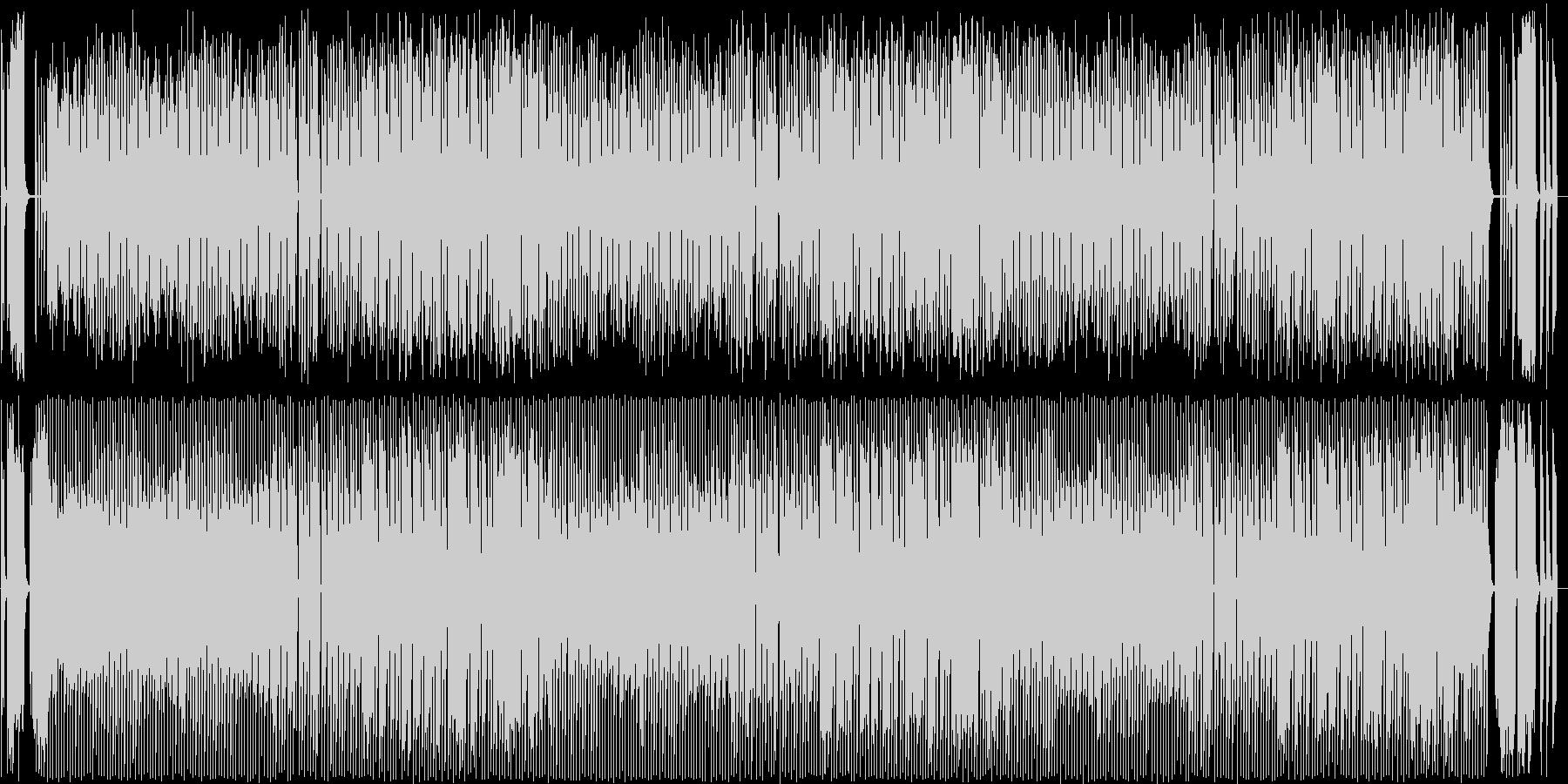 コミカルなポップス曲の未再生の波形