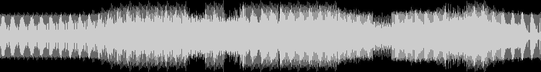 シンセの音が鳴り続ける軽快なテクノの未再生の波形