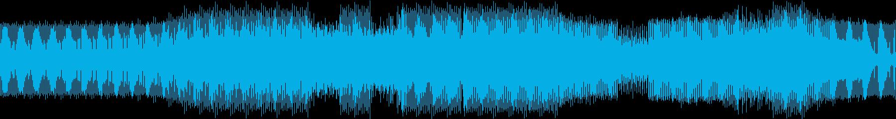 シンセの音が鳴り続ける軽快なテクノの再生済みの波形