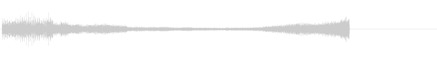 緊張感が残るピアノのジングルCの未再生の波形
