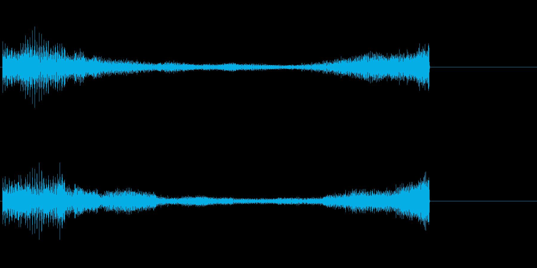 緊張感が残るピアノのジングルCの再生済みの波形
