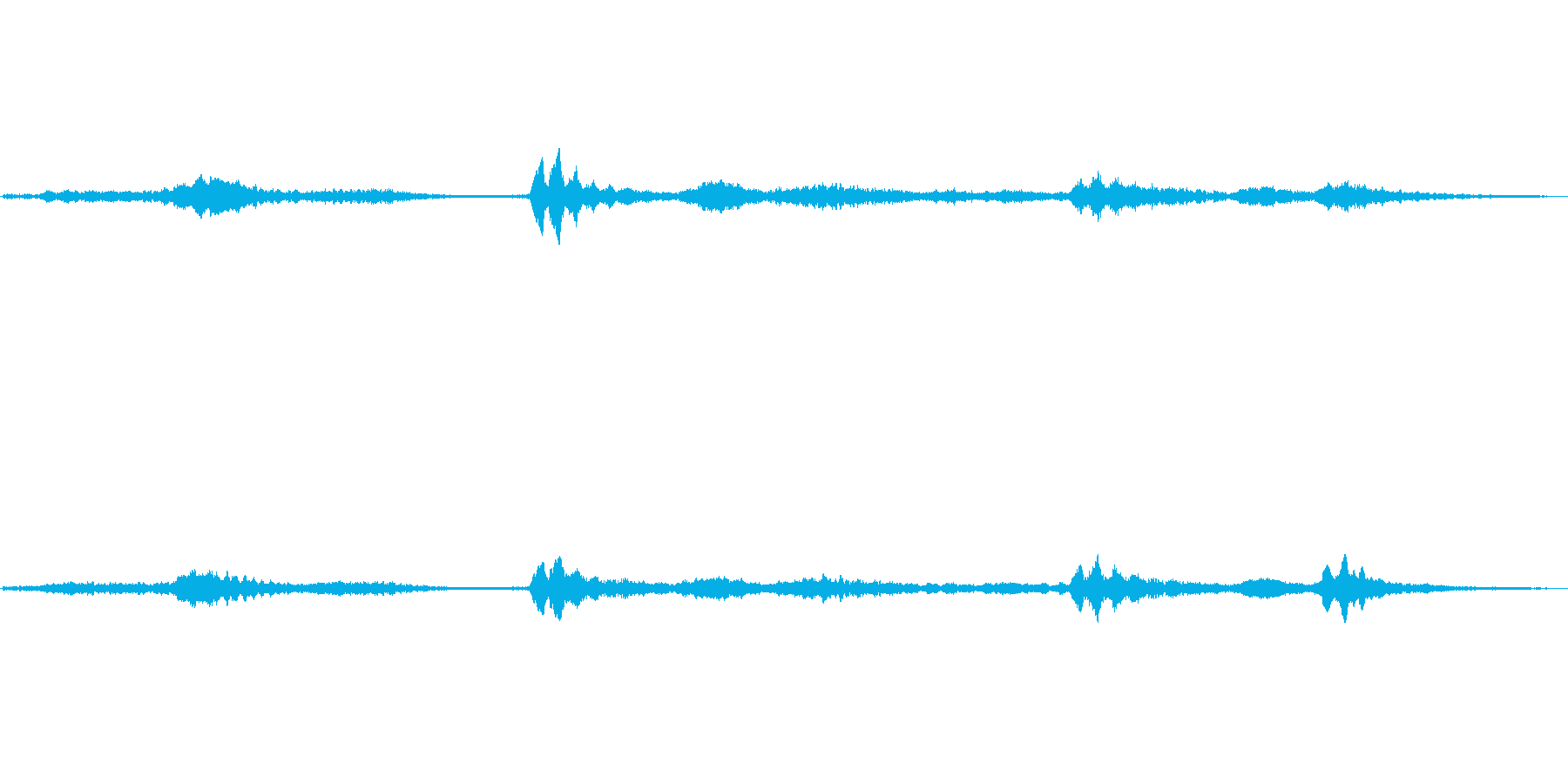 (へろへろした声)の再生済みの波形