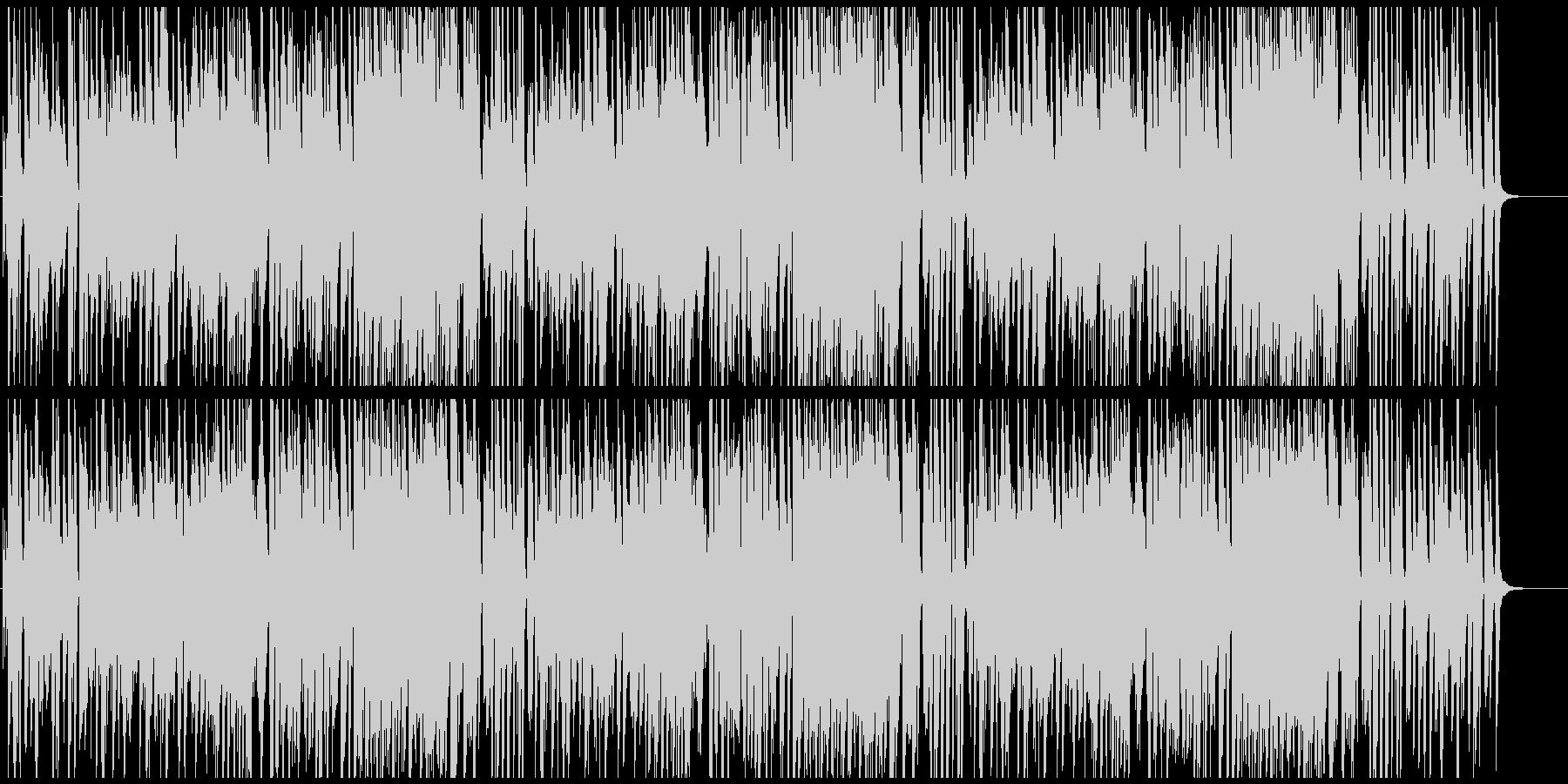 インパクトある面白いメロディピアノトリオの未再生の波形