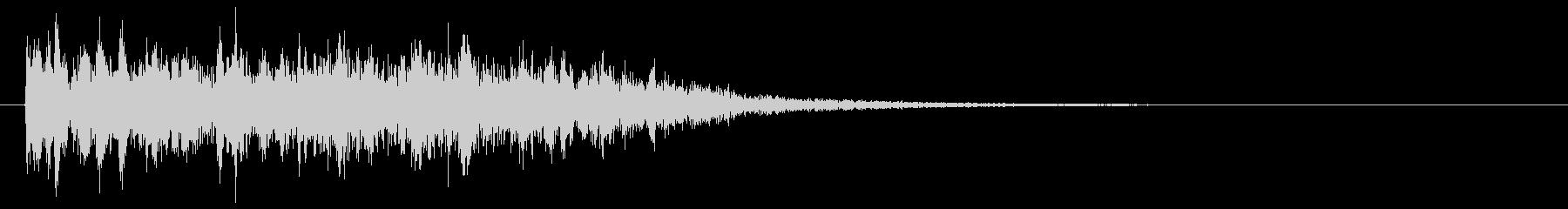 レーザービーム 光線銃 ピロピロ音の未再生の波形