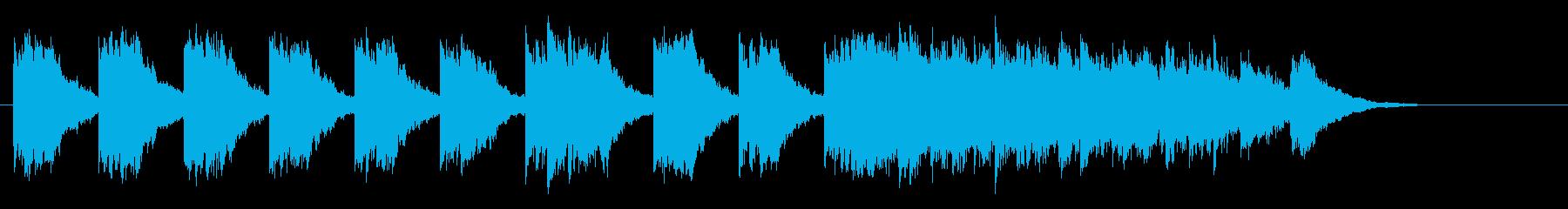 夜の澄んだ空気を感じるアンビエントBGMの再生済みの波形