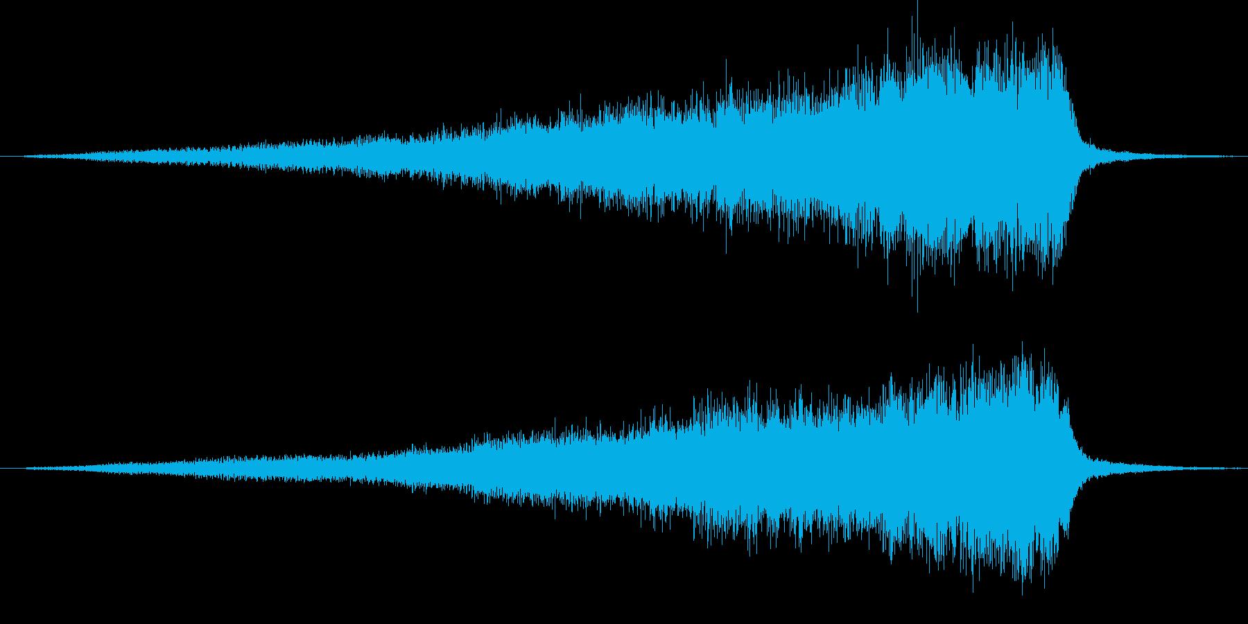 フルオケ音源による開始のフェードインの再生済みの波形