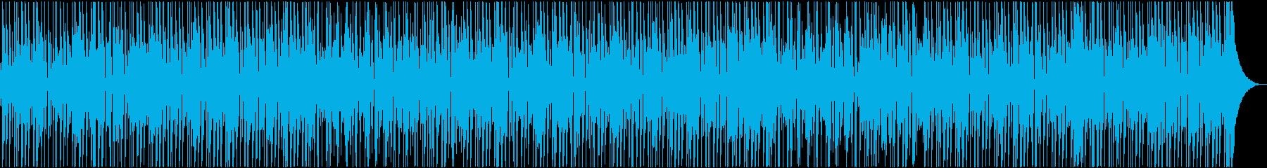 キレが良く、ファンキーなボサノバ風BGMの再生済みの波形