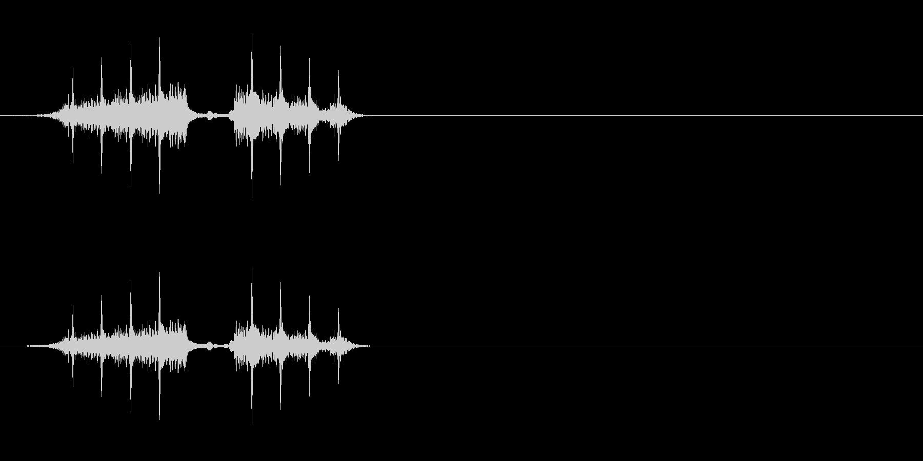 SF系ロールの未再生の波形