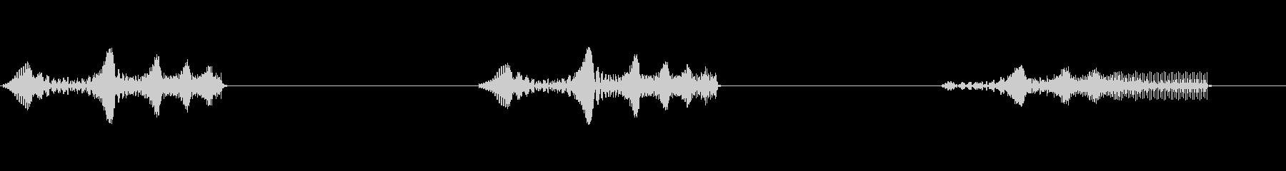 トーンビープ音の未再生の波形