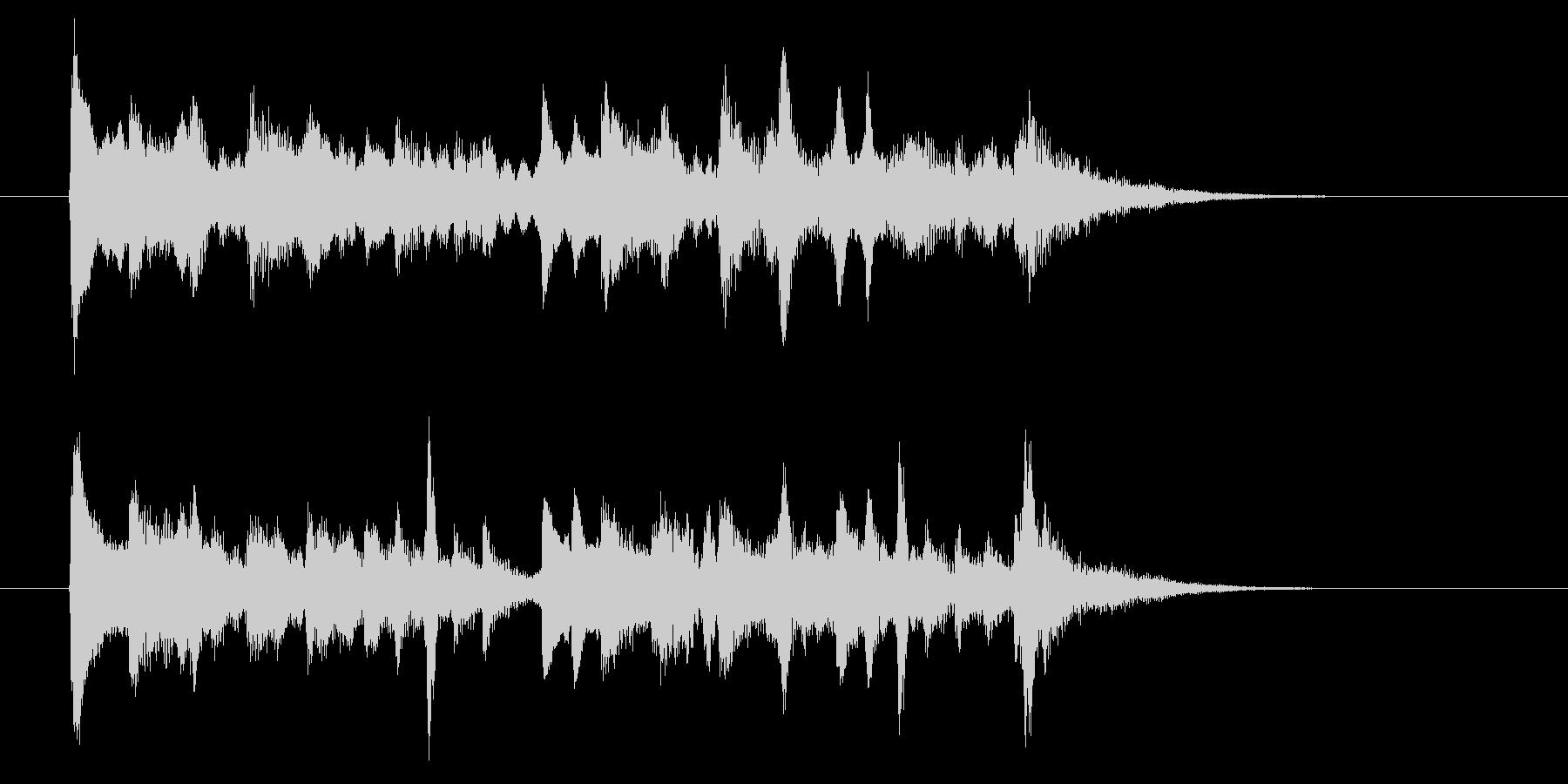 ゆったり和風な弦楽器・打楽器サウンドの未再生の波形