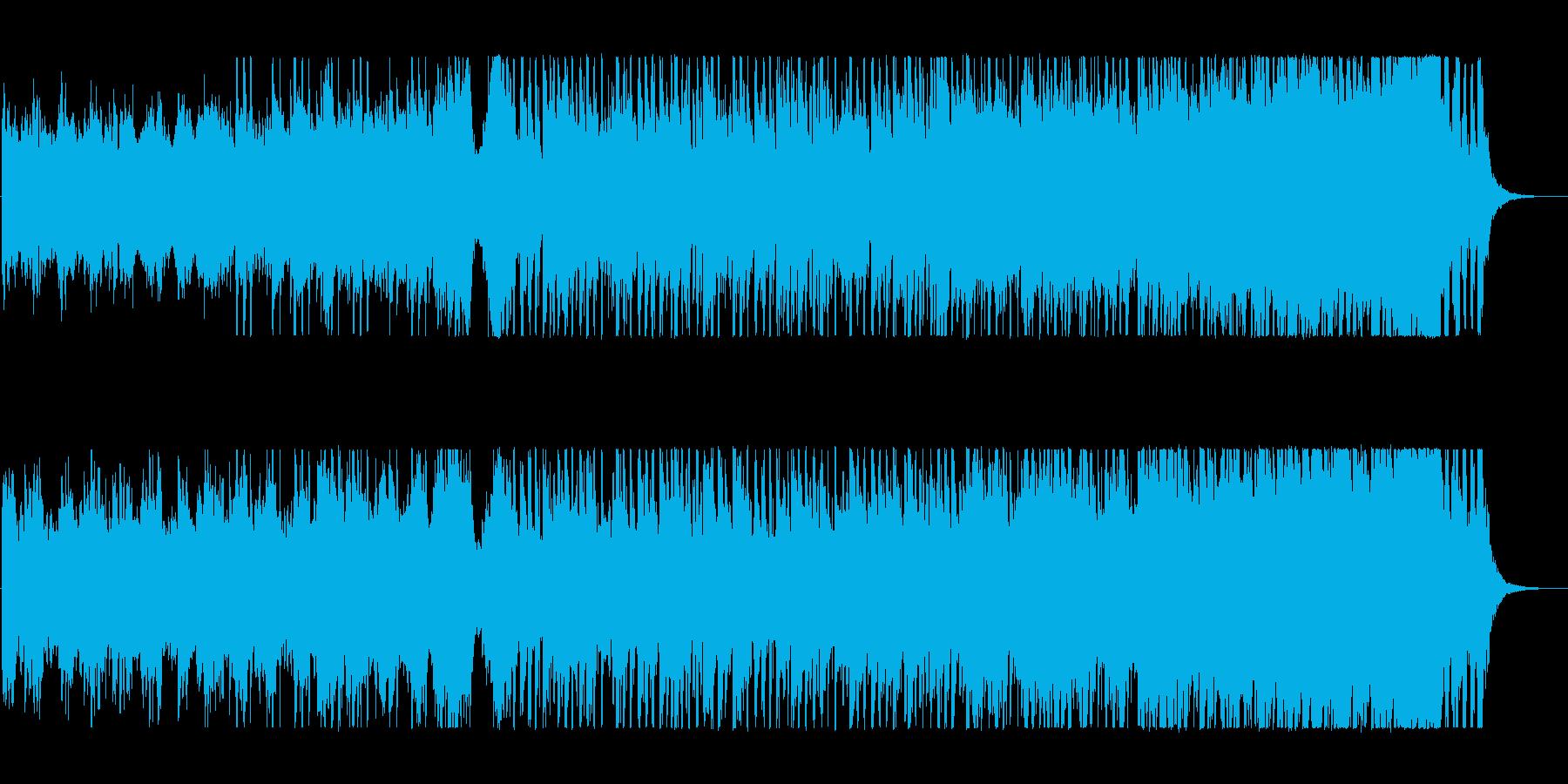 物事の始まりの期待感を演出できる曲の再生済みの波形