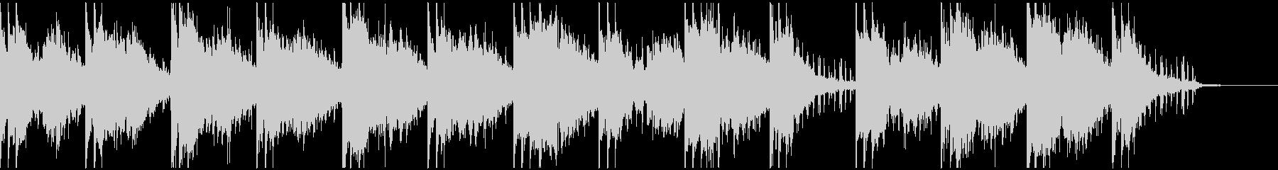 スタイリッシュなテクスチャー楽曲生音使用の未再生の波形