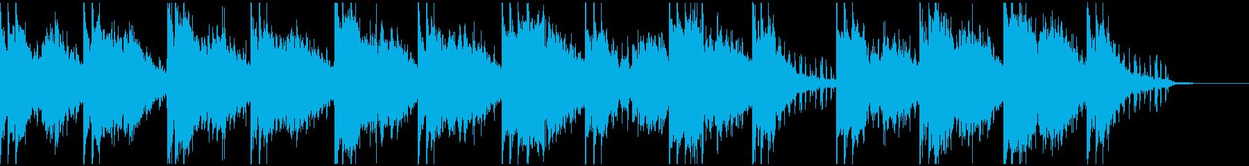 スタイリッシュなテクスチャー楽曲生音使用の再生済みの波形