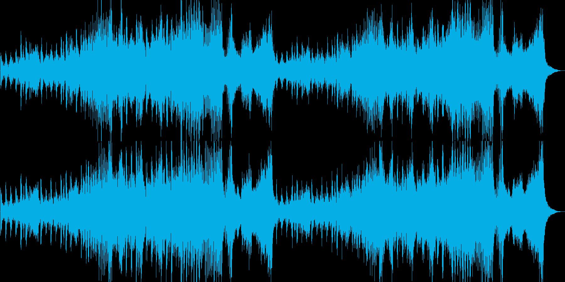 軽快で疾走感のあるオーケストラの再生済みの波形