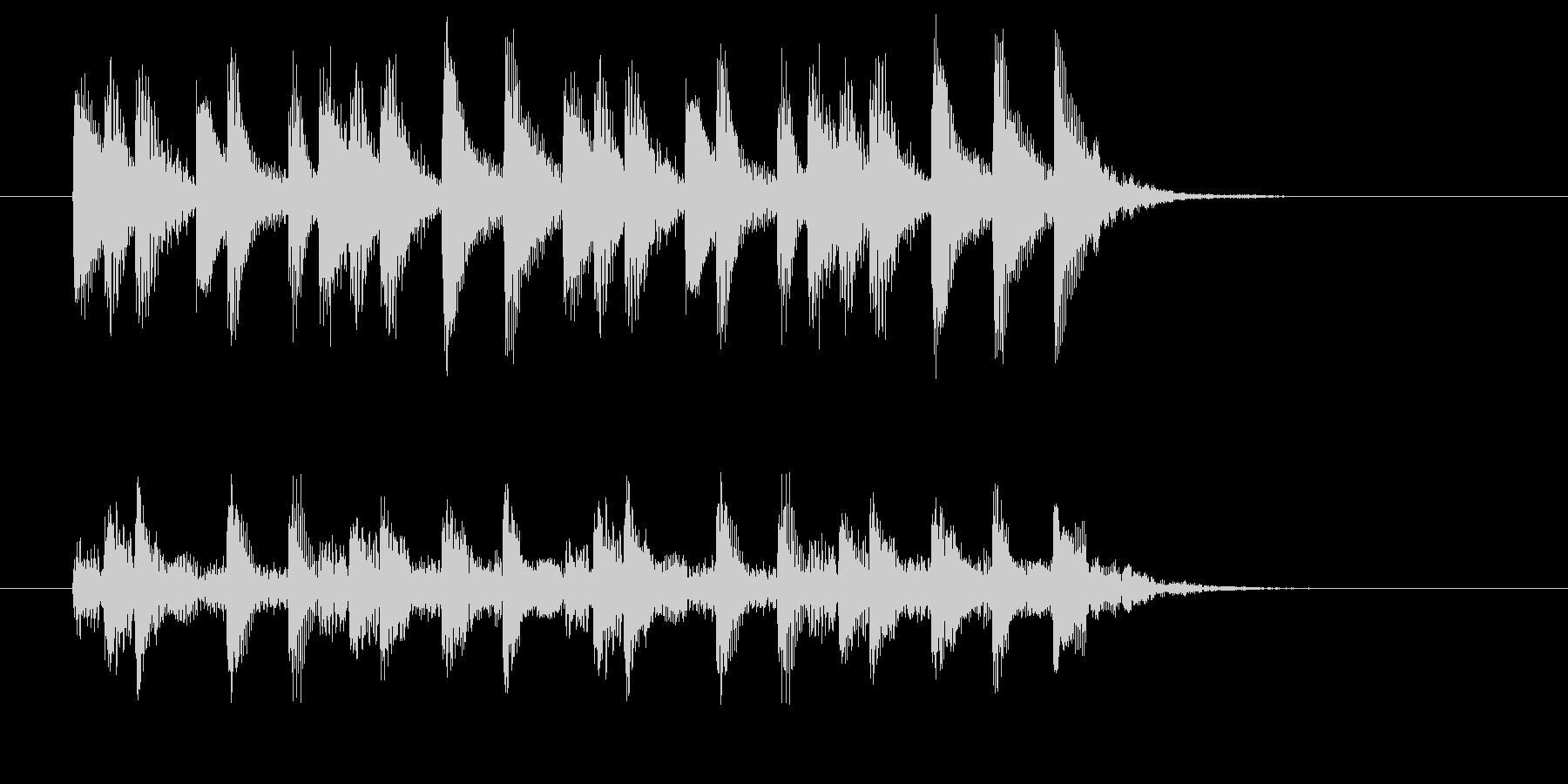 神秘的で幻想的な木琴ジングルの未再生の波形