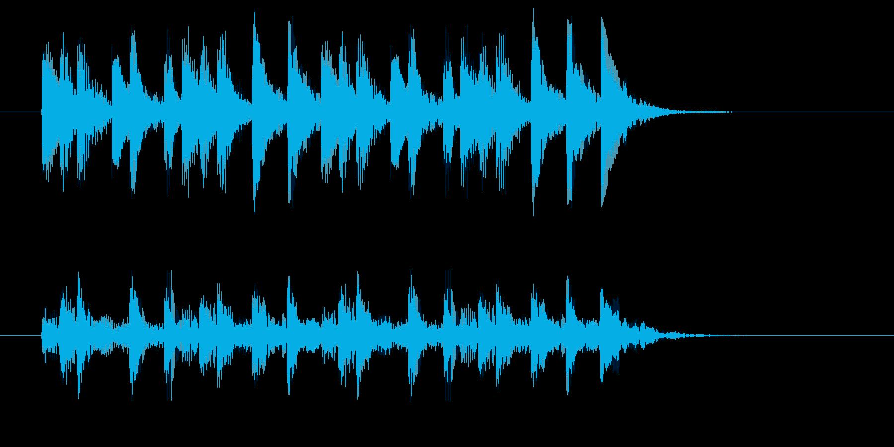 神秘的で幻想的な木琴ジングルの再生済みの波形