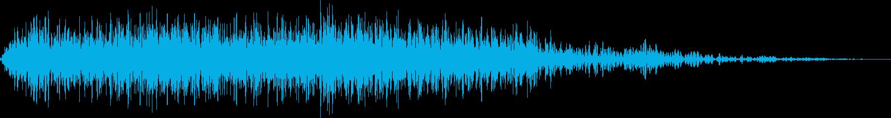 ゴブリンの鳴き声(人間大のモンスター)の再生済みの波形