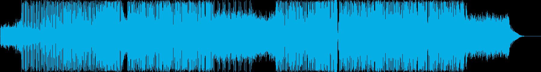 隆起するエモーショナルなレトロエレクトロの再生済みの波形