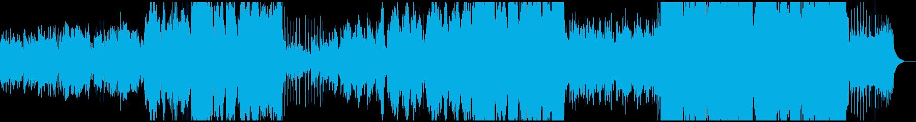 尺八三味線が日本の風景をイメージさせる曲の再生済みの波形