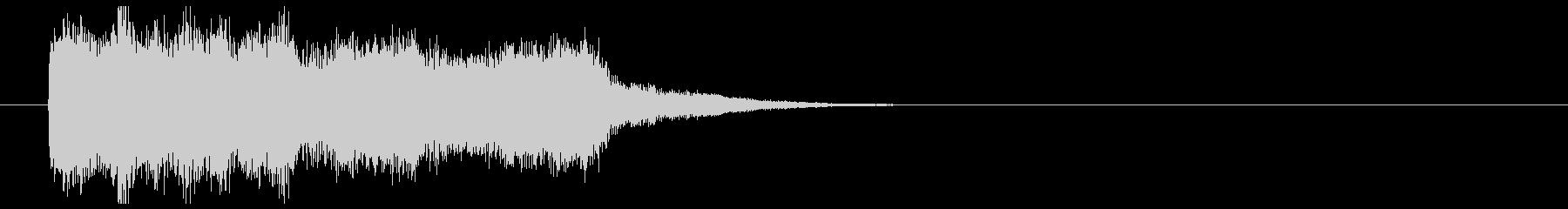 緩やかで繊細なシンセポップジングルの未再生の波形