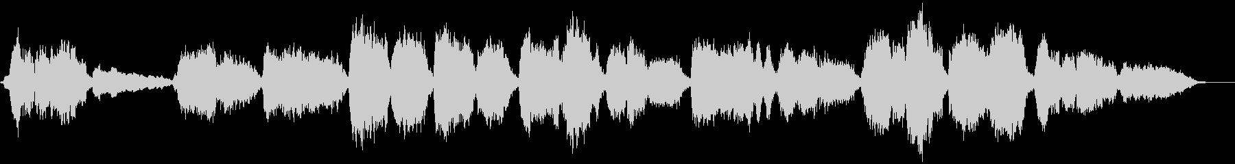 アカペラによる定番クリスマスソングの未再生の波形