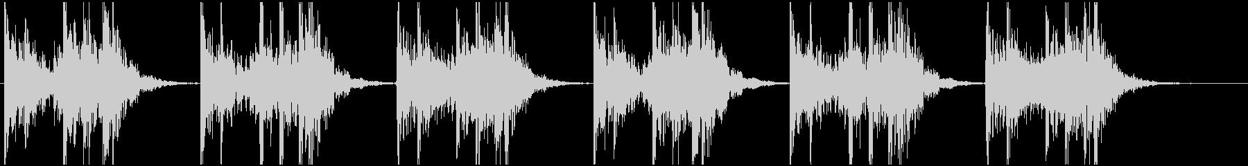 和太鼓の激しい連打の未再生の波形
