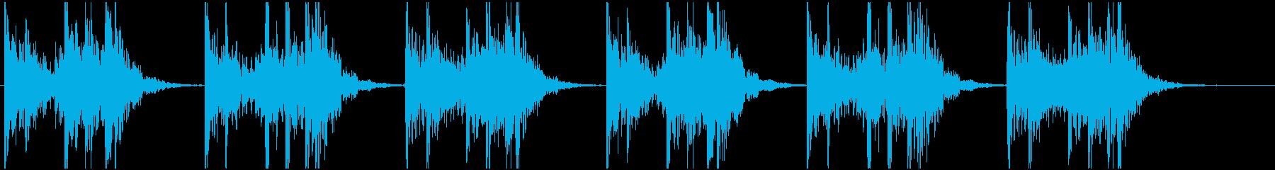 和太鼓の激しい連打の再生済みの波形