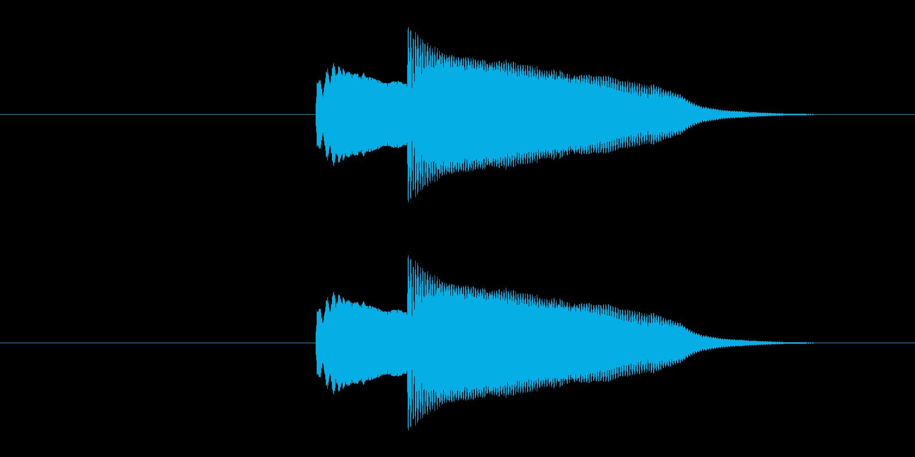 クイズの正解やシステム効果音の決定など…の再生済みの波形