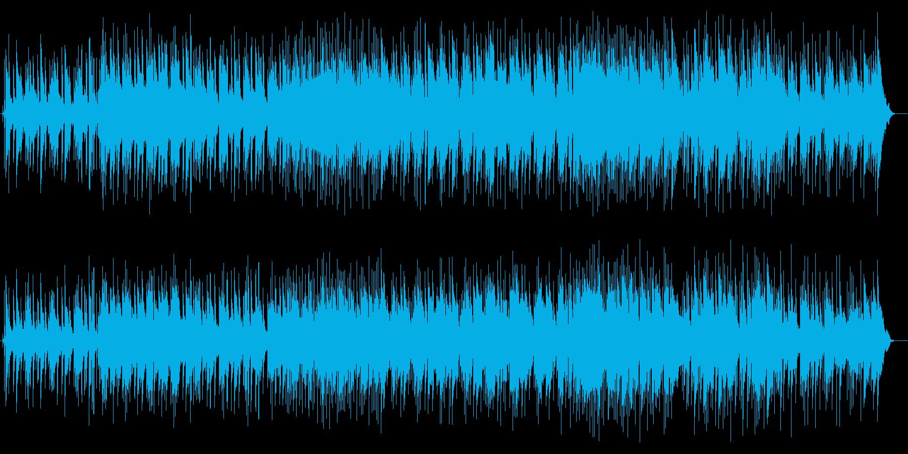 ブラス系の音色の軽快なポップスの再生済みの波形