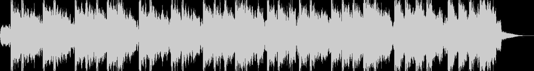 風変わりなメロディ、レトロなBGMの未再生の波形