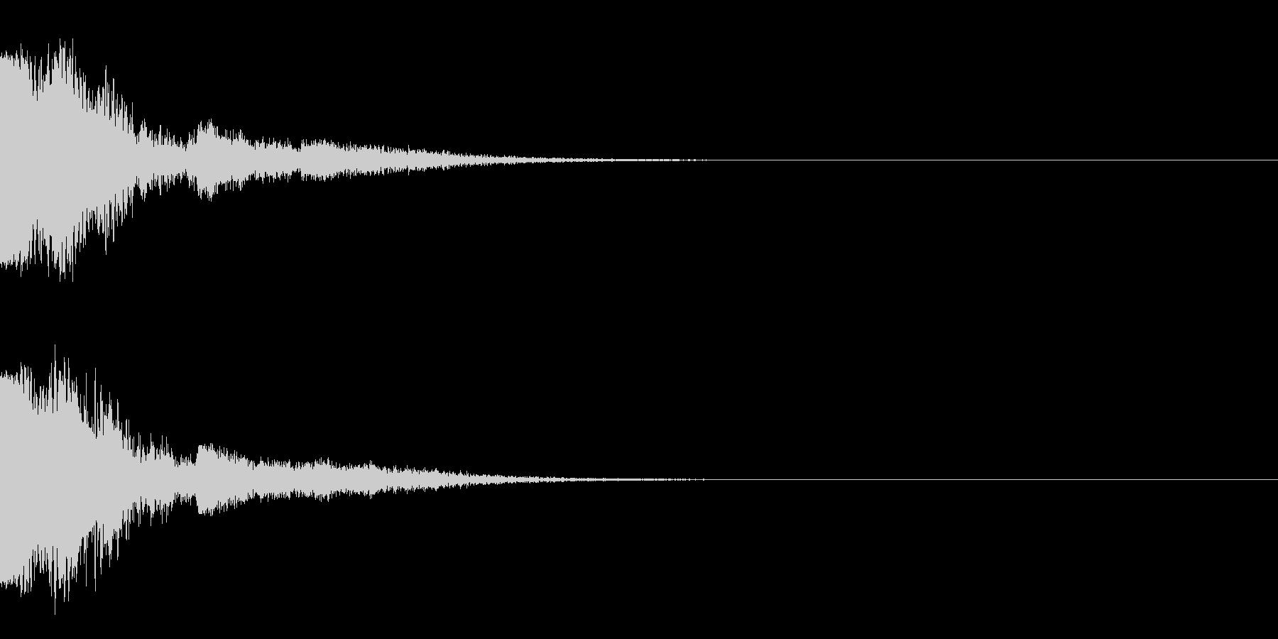 ピュー~(エレキギター下降スライド)の未再生の波形